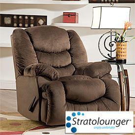Fabulous Stratolounger Calais Oversized Chocolate Recliner At Big Frankydiablos Diy Chair Ideas Frankydiabloscom