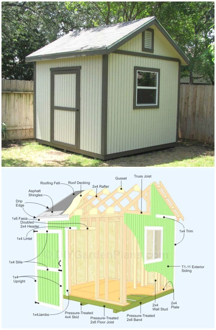 Charmant 8x8 Wood Storage Shed Plans And PICS Of Plans For Office Shed. #shedplans  #shedprojects