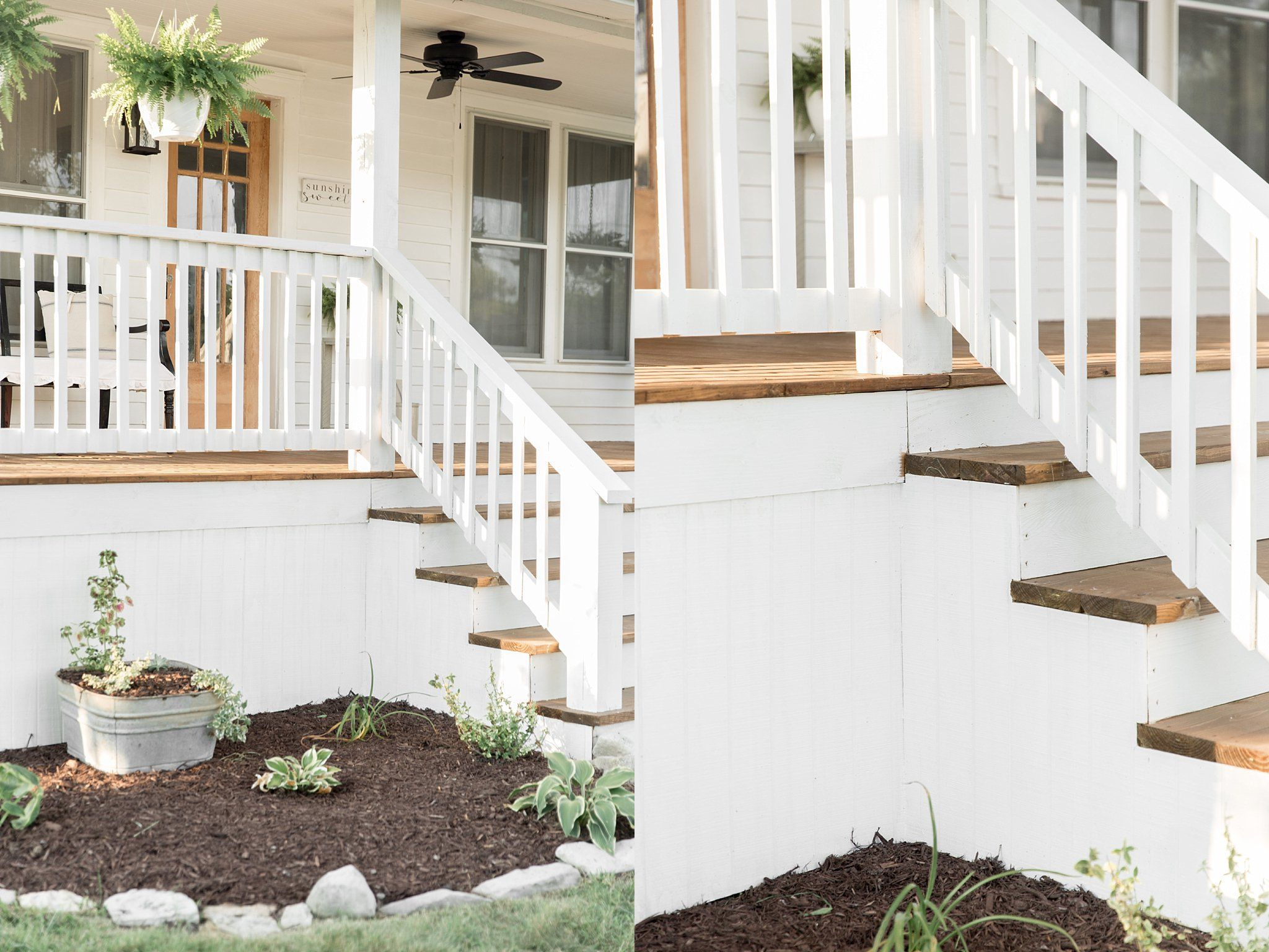 How to Cover Concrete Steps with Wood #porchpaintideas in ...