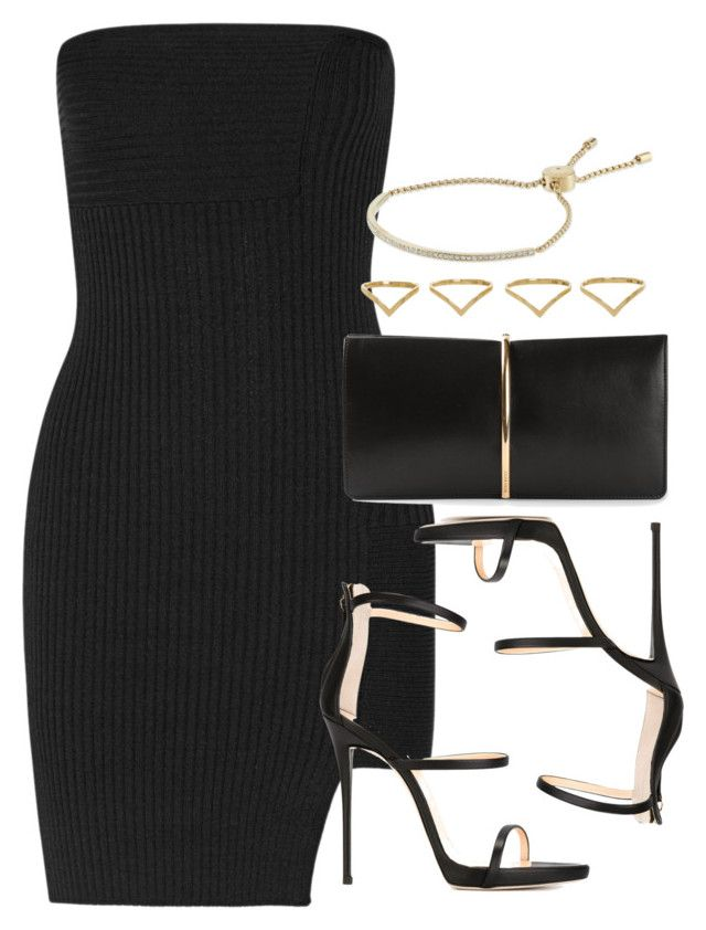 """Style #9961"" by vany-alvarado ❤ liked on Polyvore featuring Anthony Vaccarello, Nina Ricci, Giuseppe Zanotti, Michael Kors and Ana Khouri"