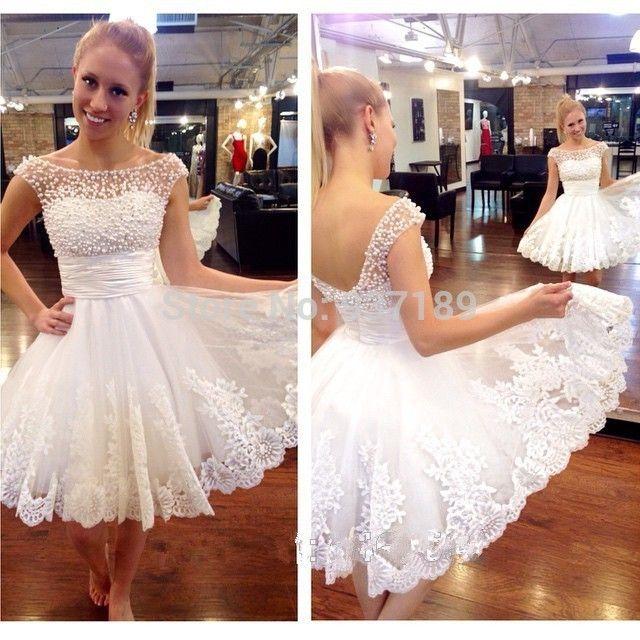 b0ebc69b95efb New white short wedding dresses the brides sexy lace wedding dress bridal  gown plus size vestido de noiva real sample
