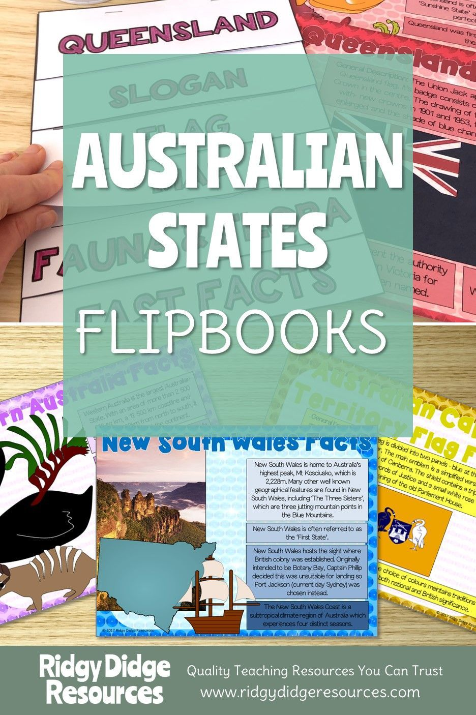 Australian States and Territories Flipbooks and Fact