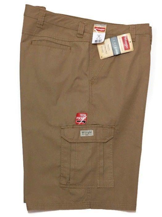 9000aa4080 Wrangler Ripstop Cargo Shorts 46 Relaxed Fit Camel Khaki Tech Pocket  Utility New #Wrangler #Cargo
