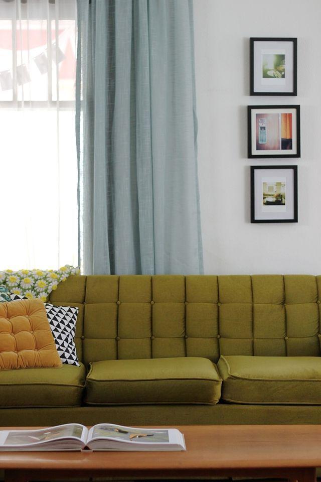 Living and Dining Room Tour Education Pinterest Eres tú, Deco - cortinas azules