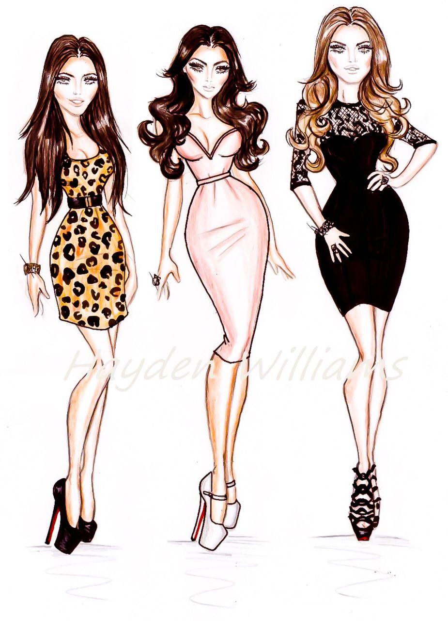the kardashians . hayden williams illustrations