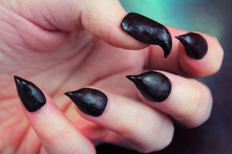 DIY Claw Nails/Seven Deadly Sins: Envy Nails (with video ...