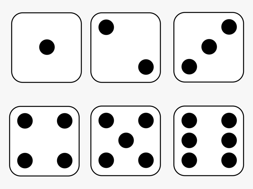 6 Dice Number Clipart Picture Black And White Download Free Printable Dice Template With Dots Hd Png Download Is Free Dice Template Clip Art Free Printables