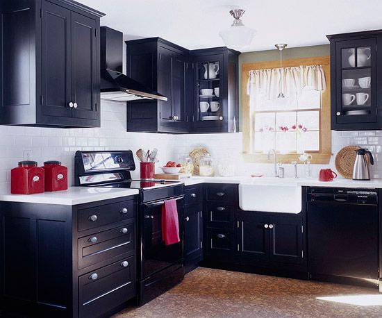 20 Unbelievable Before And After Kitchen Makeovers Red Kitchen