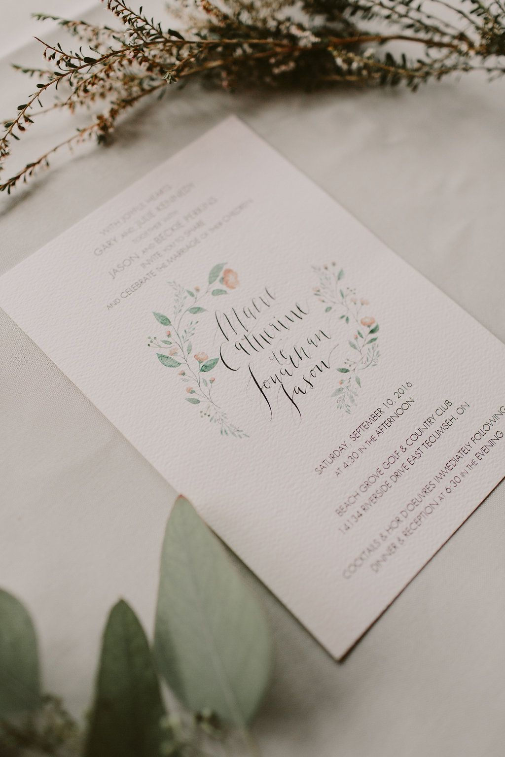 Canadian Wedding with Greenery Galore | Client Work | Pinterest ...