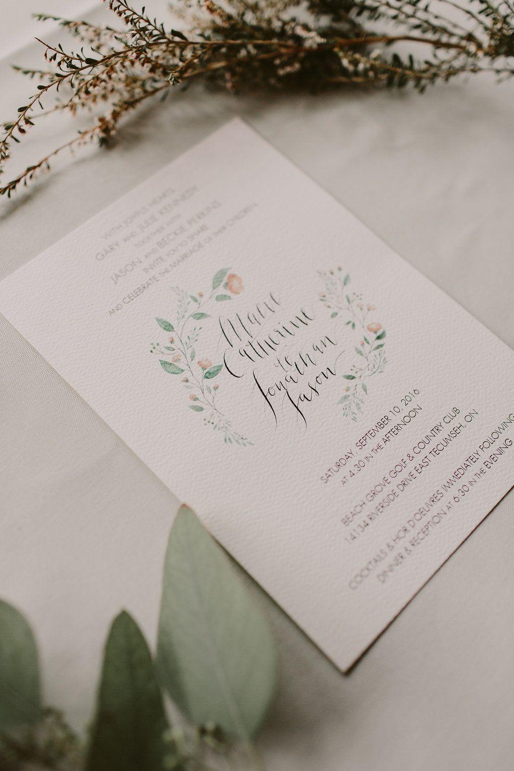 garden wedding invitations - photo by Brandon Scott Photography http ...