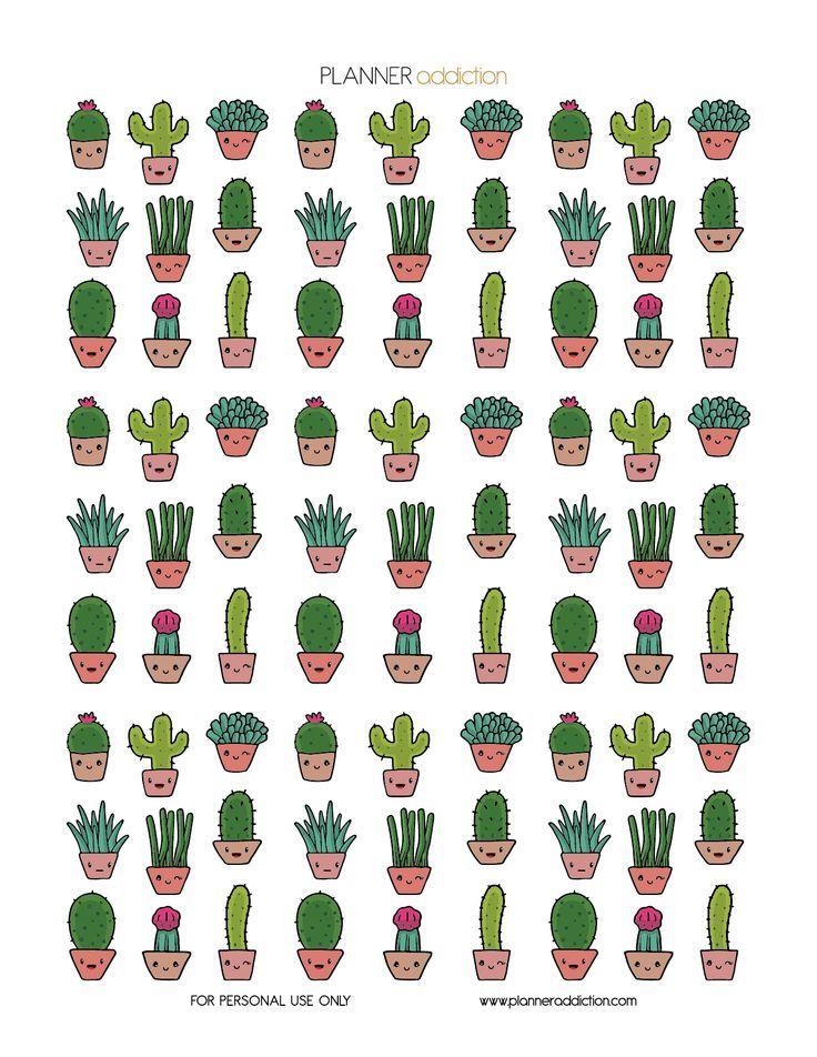 Imprimible Cactus Planner Addiction   Cactus, Imprimibles y Etiquetas