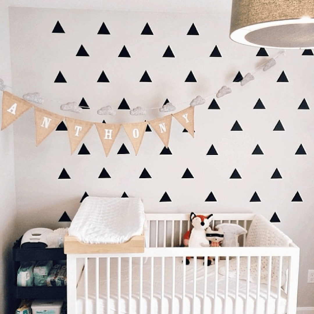 Triangle Wall Stickers Baby Rooms DIY Children Mural Wall Art Decor for Kids Bedroom Wall Decals