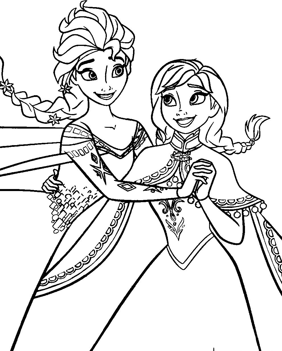 Coloring Pages Frozen Disney : Disney frozen coloring pages to download http