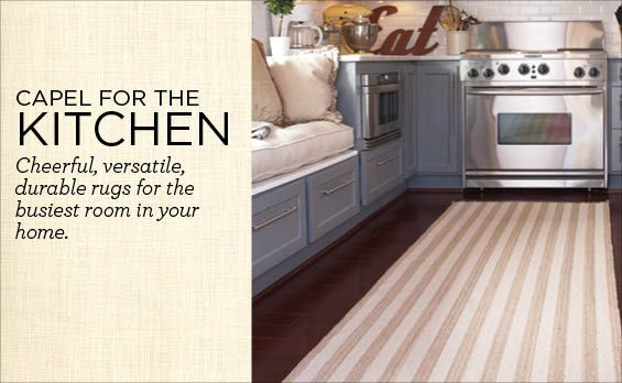 Great look for kitchen rug...