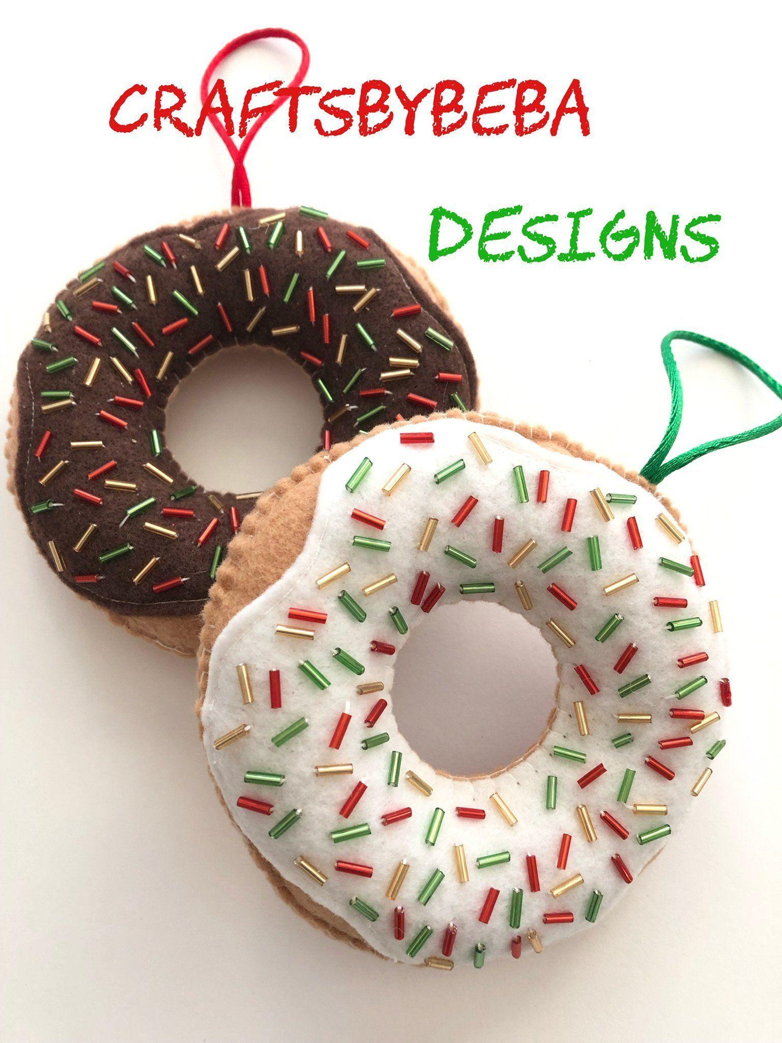 Donuts Ornaments Christmas Decor Ornaments Christmas Etsy In 2020 Christmas Ornaments Ornament Decor Christmas Donuts