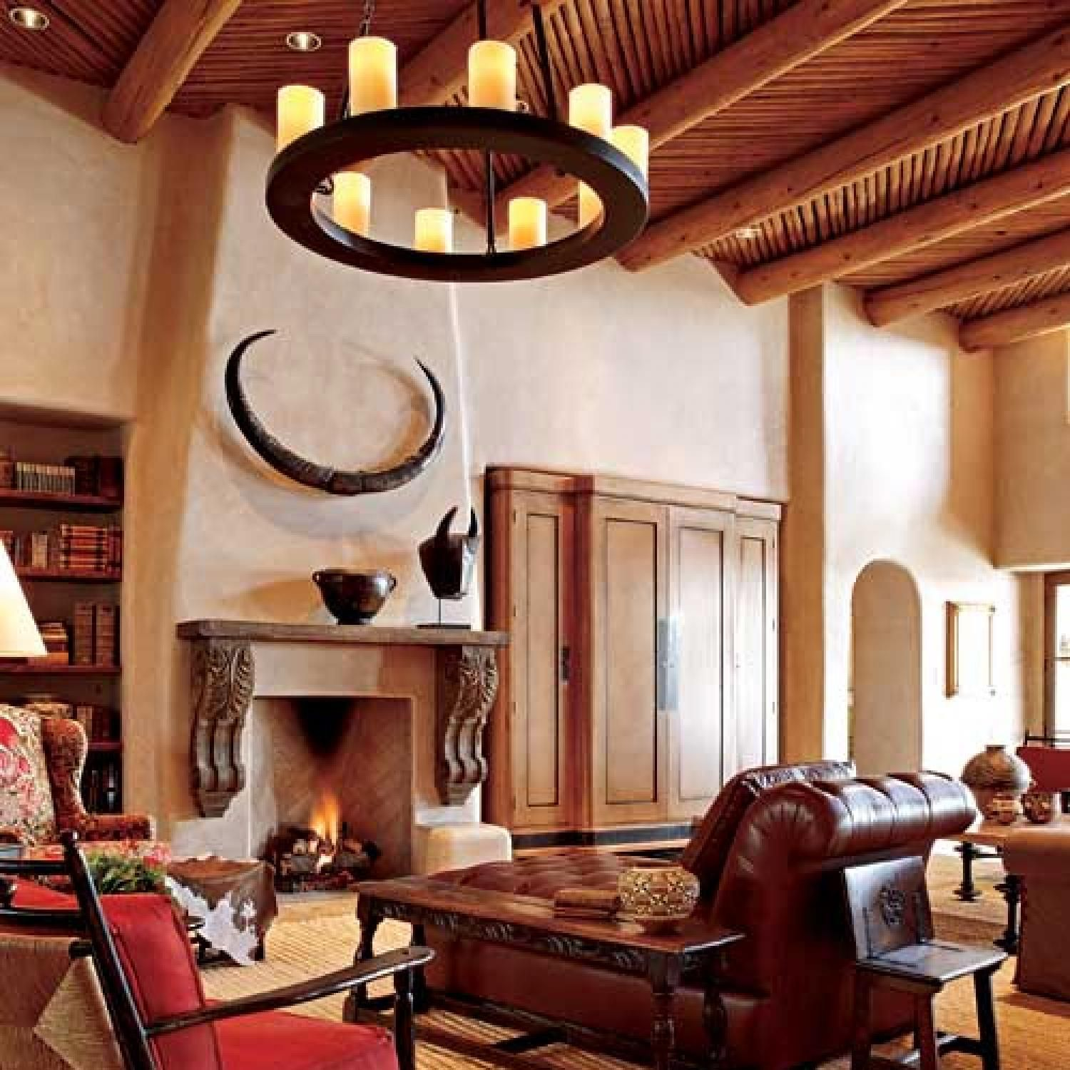 Pueblo Style Home With Traditional Southwestern Design Southwestern Design Home Decor Styles Western Home Decor #southwestern #style #living #room #furniture