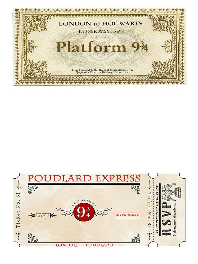 Son anniversaire Harry Potter - la lettre d'invitation | Anniversaire thème harry potter ...