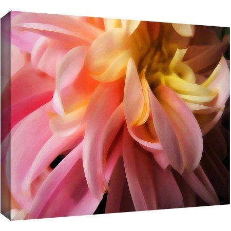 Dean Uhlinger Dahlia Study Gallery-Wrapped Canvas, Size: 32 x 48, Yellow