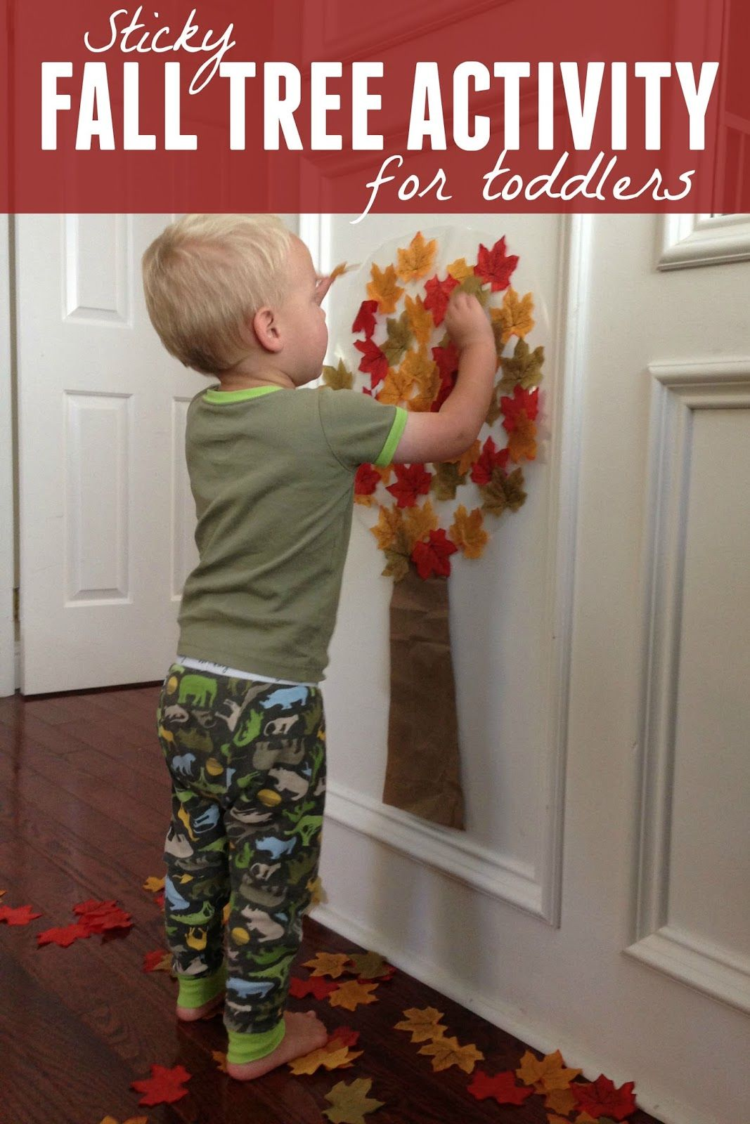 Fall colors activities for toddlers - Easy Fall Tree Activity For Toddlers