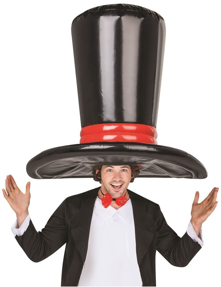 Airblown inflatable giant big oversized top hat black