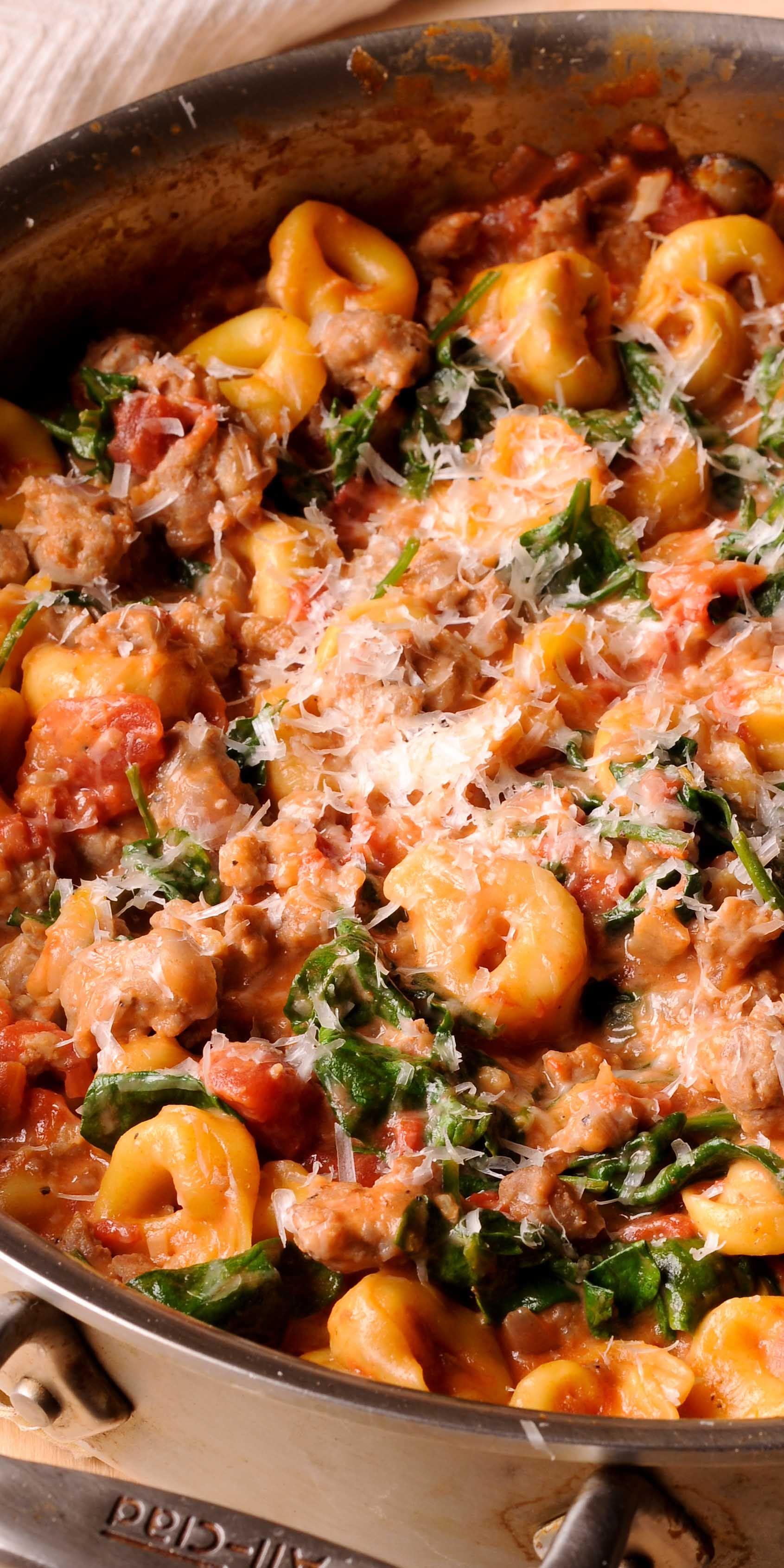 Creamy Sausage Tortellini