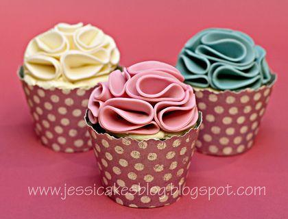 Ruffle cupcakes