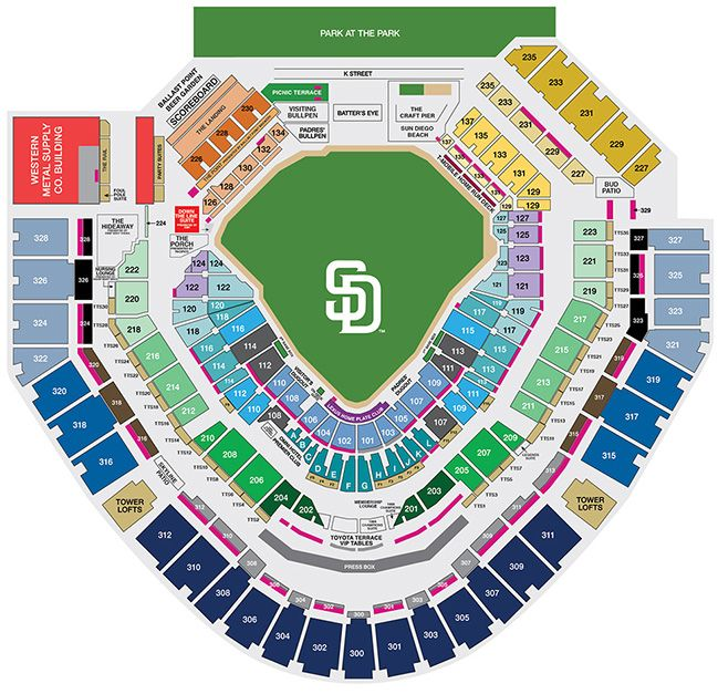Petco Park Seating And Pricing Petco Park San Diego Padres San Diego