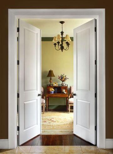 Painted two panel door double French door Pinterest
