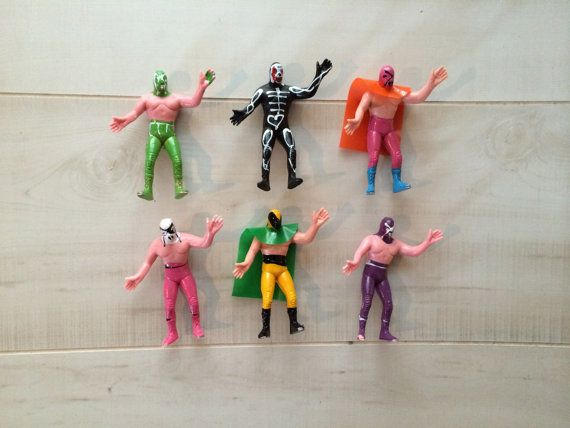 Nacho Libre Wrestler 7 in Action Figure Mexican Toys HANDMADE  PAINTED  #  2