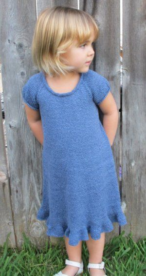 Knitting Pure and Simple Baby & Children Patterns - 122 - Little Girls Top Down Dress Pattern