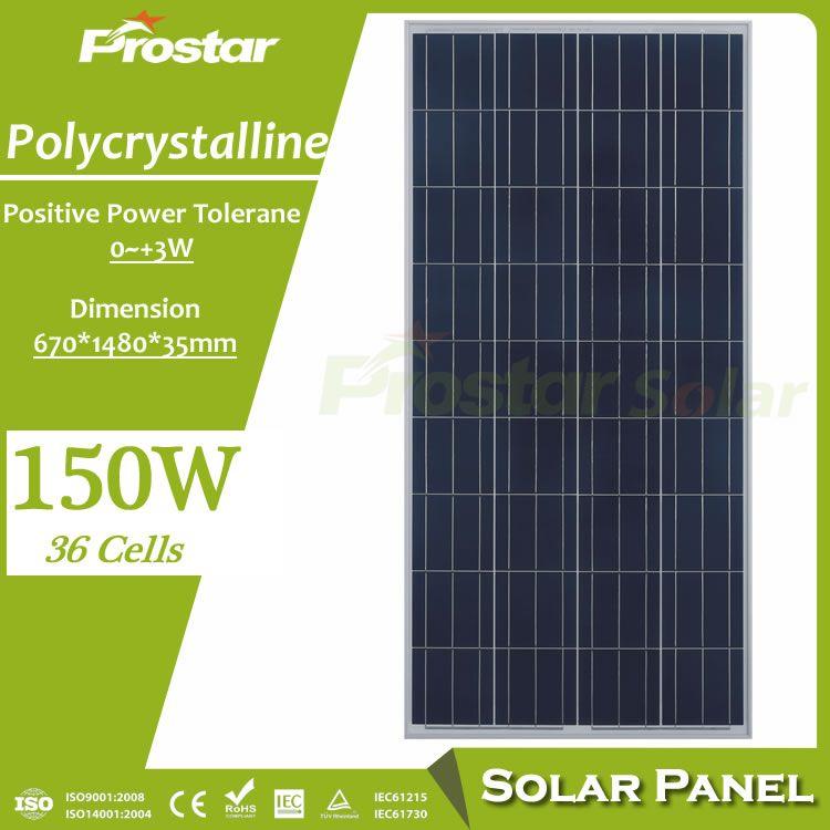 Prostar 150w Solar Panel Chinese Photovoltaic Panels Prices Solar Panels Buy Solar Panels Best Solar Panels