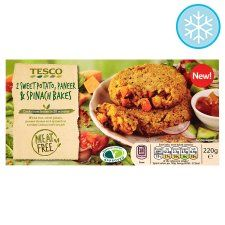 Meat Free 2 Sweet Potato Paneer And Spinach Bakes 220g