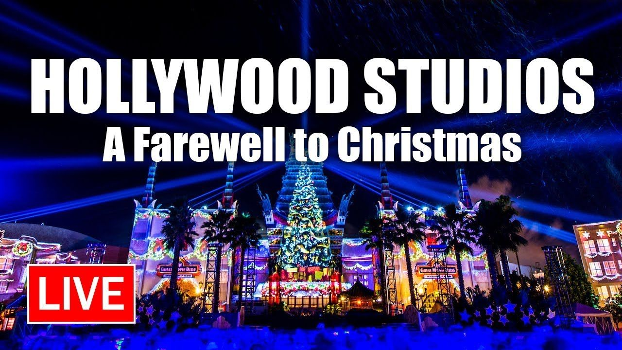 Live A Farewell to Christmas From Hollywood Studios