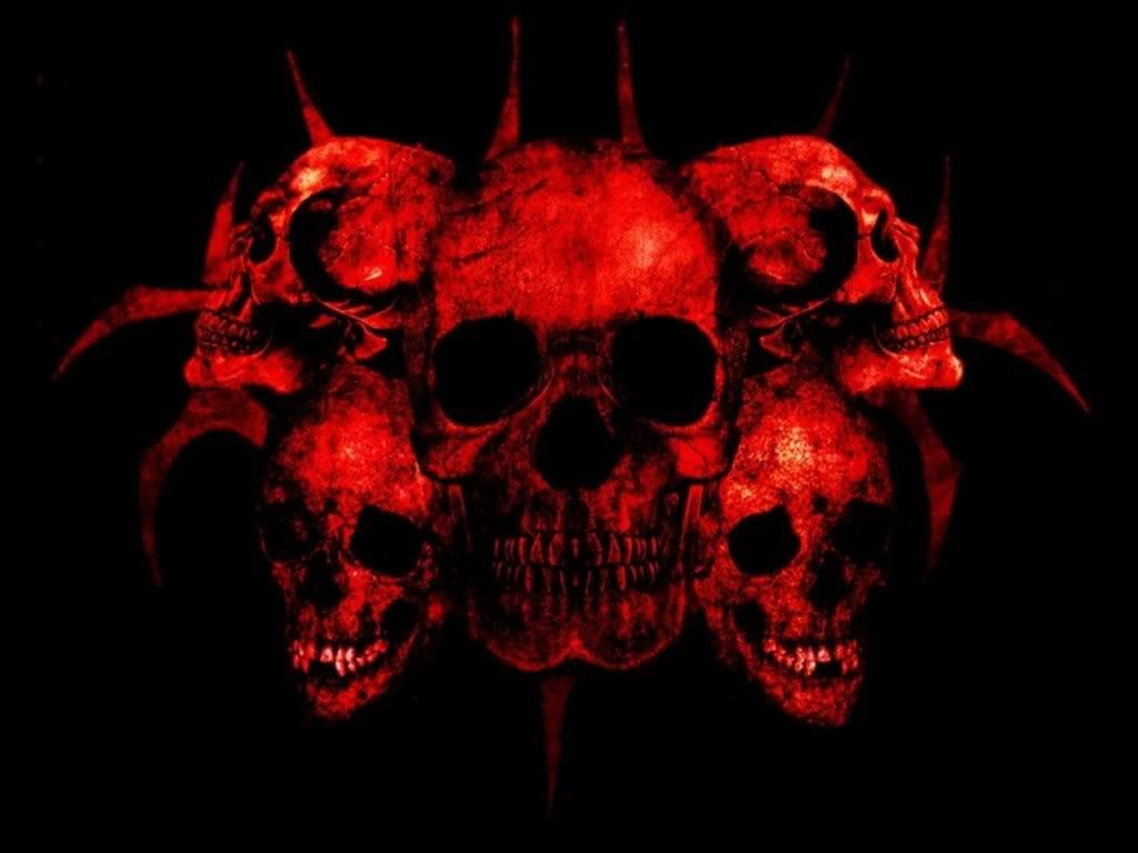 Red skulls wallpaper 8 red skull skull wallpaper - Scary skull backgrounds ...