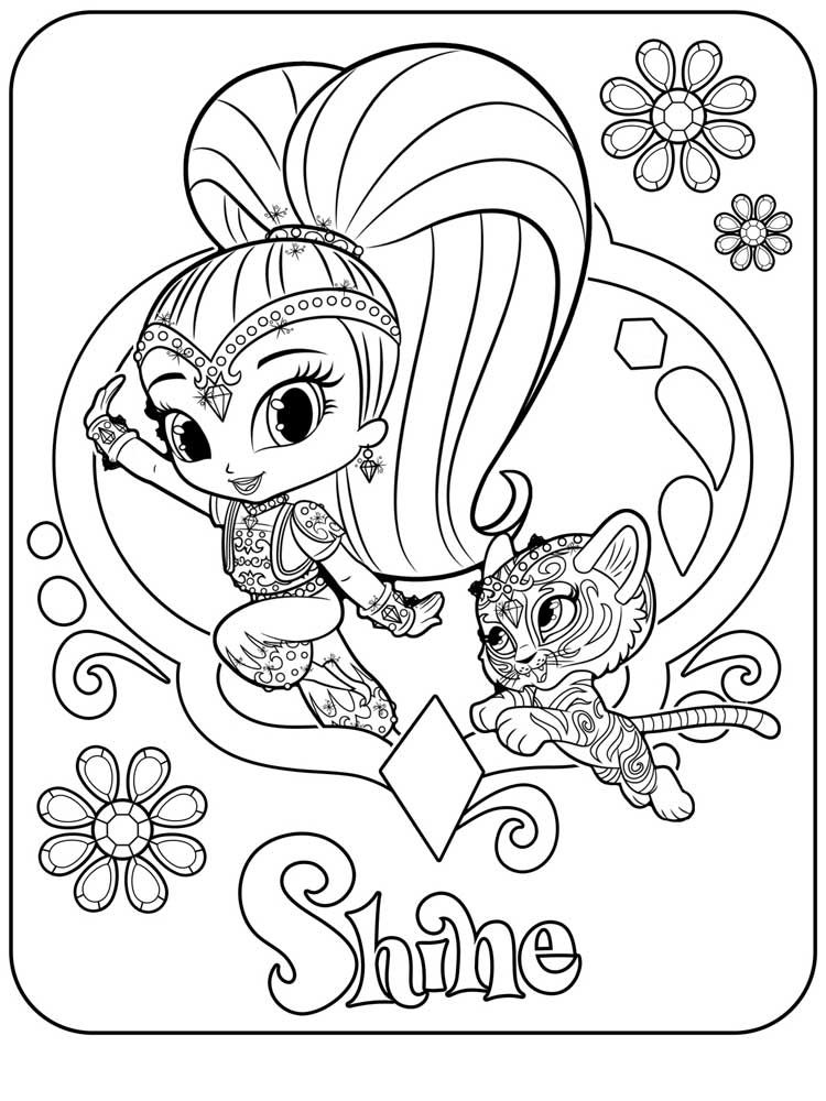nickelodeon shimmer and shine coloring pages | Shimmer and Shine Coloring Pages | Coloring pages ...