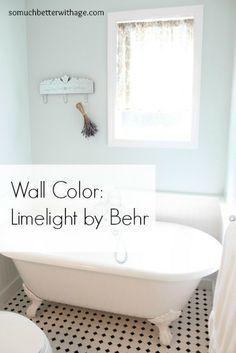 behr limelight | blue bathroom paint, blue bathroom