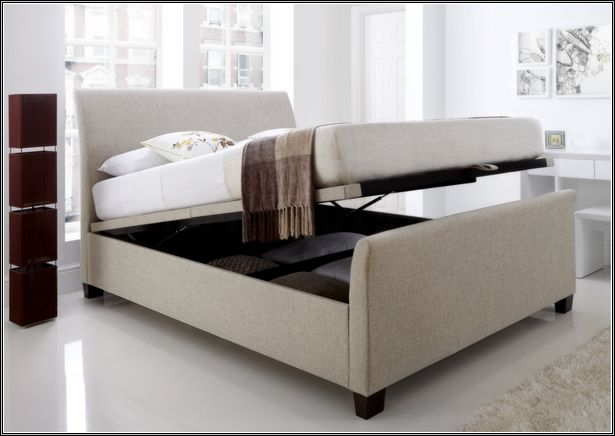 hydraulic storage bed the new version of king storage bed frame - Storage Bed Frame King