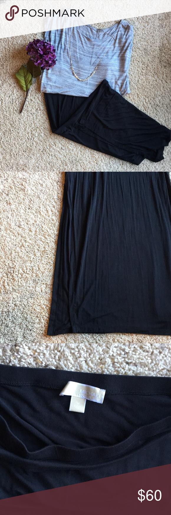 ce7fe0b3c6b6f Michael Kors black maxi skirt A side split in both sides. Perfect ...