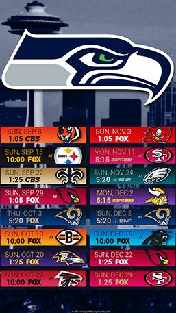 Seattle Seahawks 2019 Mobile City NFL Schedule Wallpaper