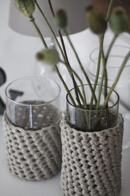 HerzStück: DIY - Herbstpulli für Vasen - Anleitung | stricken ...
