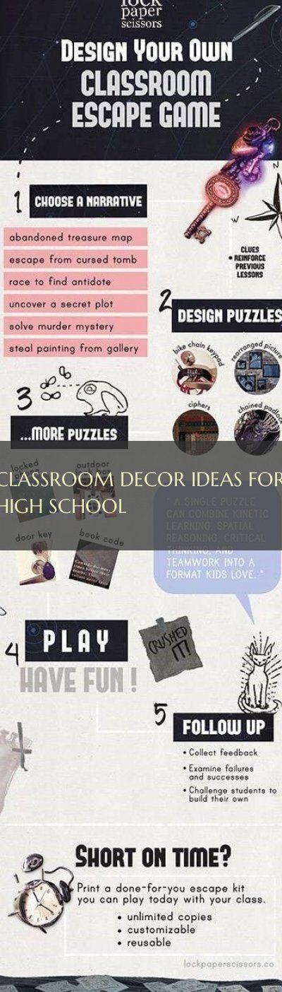 classroom decor ideas for high school