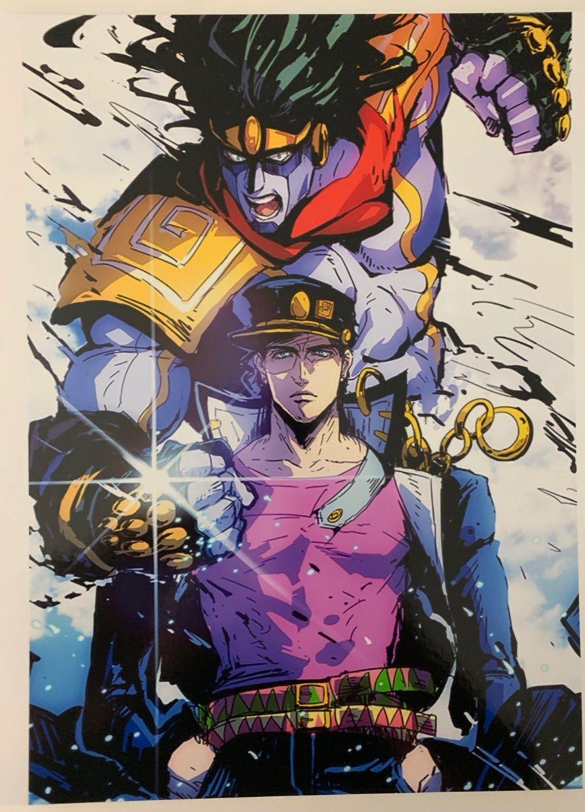 Jojos Bizzare Adventure Poster In 2020 Jojo S Bizarre Adventure Anime Jojos Bizarre Adventure Jotaro Jojo Bizarre