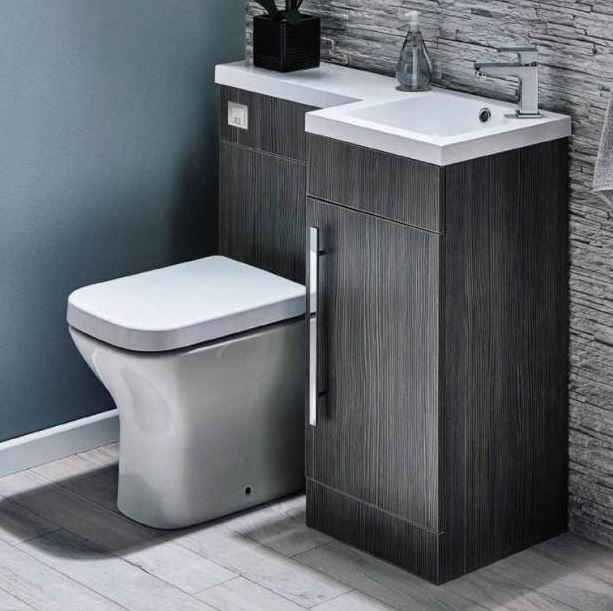 Best 900Mm L Shaped Avola Grey Vanity And Wc Unit With Vassel 400 x 300