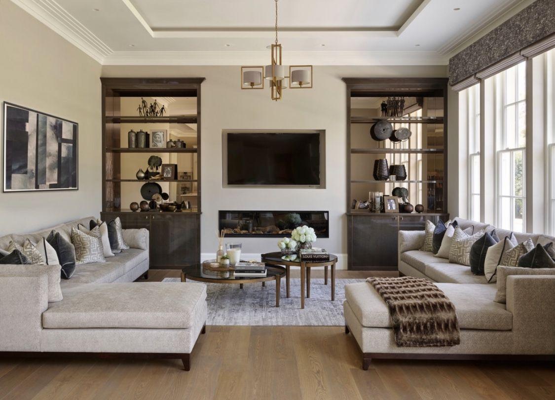 Elegant beige and grey living room decor   Living room ...