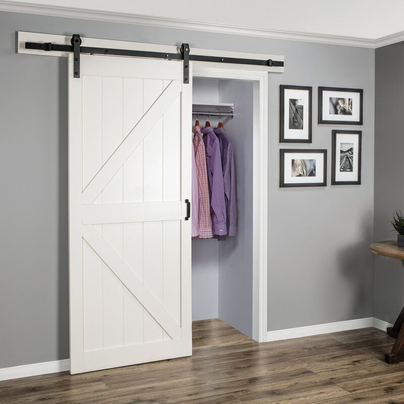 Paneled Manufactured Wood Finish Continental Barn Door With Installation Hardware Kit In 2021 Barn Door Closet White Barn Door Interior Sliding Barn Doors