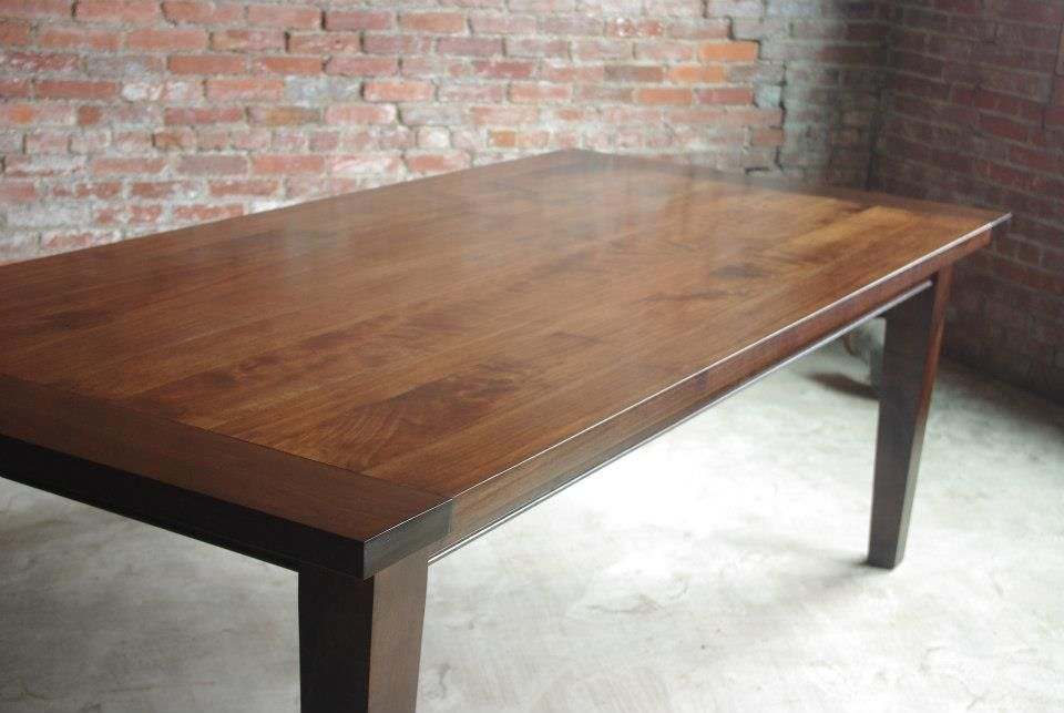 shaker farmhouse table in black walnut kitchen table pinterest
