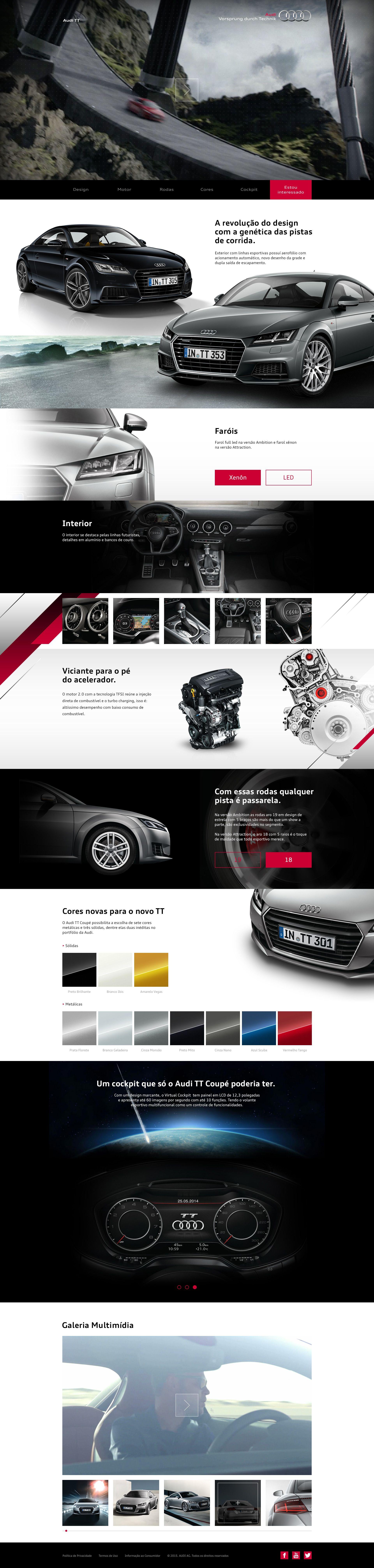 Hotsite de lançamento Audi TT Maio de 2015