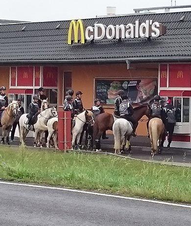 """Photo of Neulich Am Fast-food-Restaurant… Hier stehen zehn Pferde am """"Reit-In""""-Schalter"""