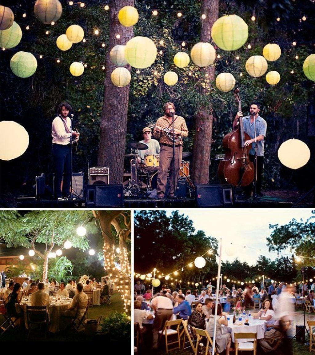 outdoor backyard wedding reception ideas wedding fashion
