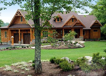 plan 15793ge: stunning mountain ranch home plan | luxury houses